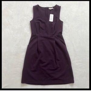 🛍[NWT]MAISON JULES | plum sleeveless pocket dress